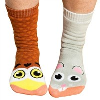 Women's Owl vs. Mouse Socks