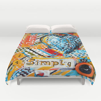 Love, Simply... Duvet Cover by Claudia McBain