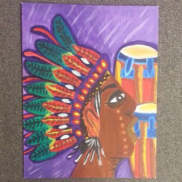 Indian Painting acrylic canvas