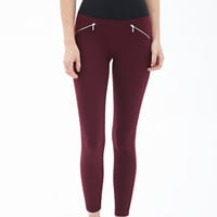 Zippered Knit Leggings