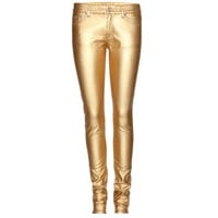 saint laurent - coated skinny jeans