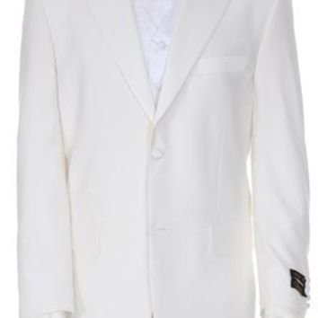 White 2 Button Tuxedo by Ferrecci - Cheap Tuxedo Less than $100!