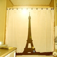Eiffel Tower SHOWER CURTAIN Paris France by CustomShowerCurtains