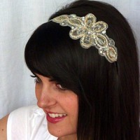 Sparkly Embroidered Beaded Charlotte Headband by JillsBoutique