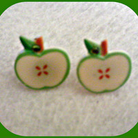 Green Apple Earings