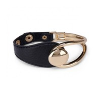 Sole Society Large Loop Leather Bracelet