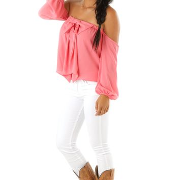 A Bow For Her Top: Pink