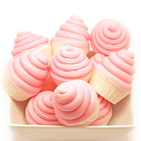 18 Mini Cupcake Soap Favors - 18 Party Favors - Baby Shower Favor - Vegan - Your Choice of Color Scent- SHIPS AFTER AUGUST 13th