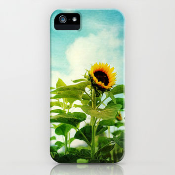 sunflower field iPhone & iPod Case by Sylvia Cook Photography