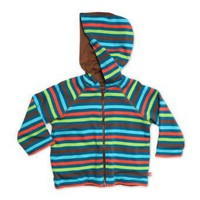 ZUTANO Boys 2-7 5 Color Stripe Pagoda Reversible Zip Hoodie
