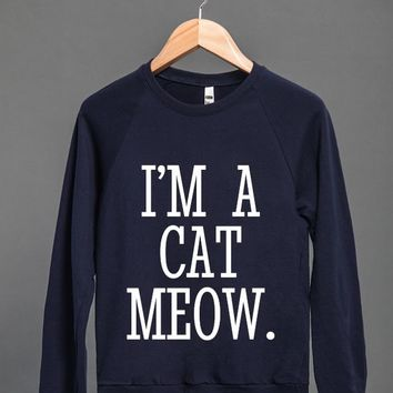 CAT PERSON I'M A CAT MEOW SWEATSHIRT SWEATER WHITE ART ID870315