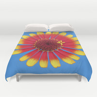 Bright Flower Duvet Cover by Legends of Darkness Photography