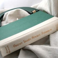 Recycled Book Purse in Green by thelintballoon on Etsy