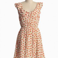 Georgia Peach Ruffle Dress | Modern Vintage Dresses