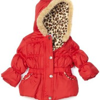 Pink Platinum Baby-Girls Infant Solid Puffer Jacket