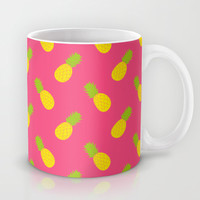 Pineapple Pattern Mug by Ariel Lark