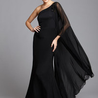 ideeli | NOTTE BY MARCHESA Asymmetrical Gown with Dramatic Sleeve