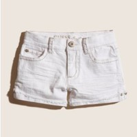 GUESS Kids Girls White Denim Tomboy Shorts