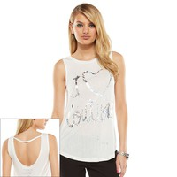 Juicy Couture Graphic Bar-Back Tank - Women's