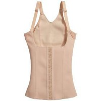 Squeem Magical Lingerie Shapewear, Miracle Vest, Firm Compression, Cotton &amp; Rubber, Vest, Nude, Small