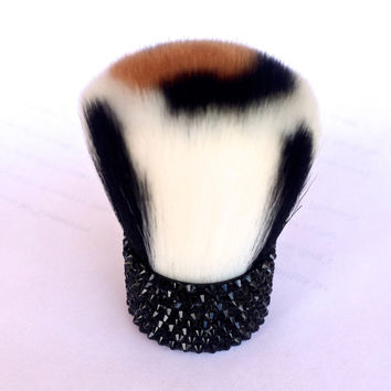 Wild Safari Swarovski Crystals Kabuki Brush