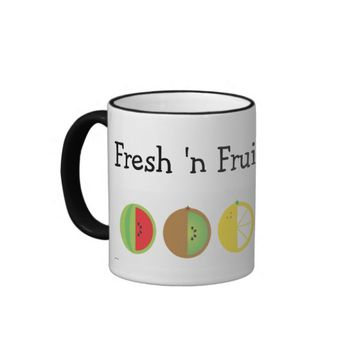 Fresh 'n Fruity 11 oz Ringed Mug