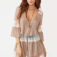Ashbury Lace Top - Mocha in  Collections Our Most-Loved Stuff at Nasty Gal