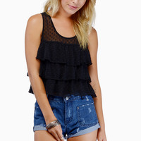 Polka Crop Top $33