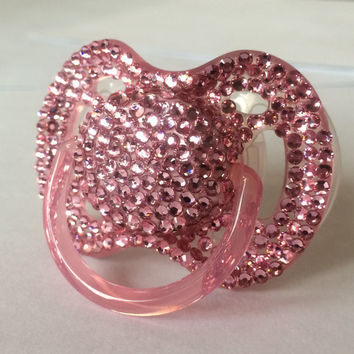 LIMITED 368 Full Swarovski Crystal Pacifier Keepsake | Many Color Options