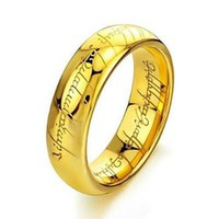 """Lovejewelry Tungsten Carbide Steel Rings """"The Lords Of The Rings"""" Best Welcome Finger Jewellery"""