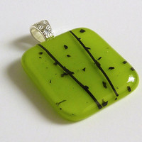 Spring Green Glass Pendant by bprdesigns on Etsy