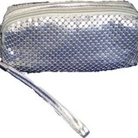 Metal Mesh Wristlet with Roomy Wrist Strap, for Nightlife, Clubbing, Parties, or Just Hanging Out; 2 Patterns Available
