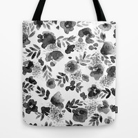 Floret Black and White Tote Bag by Jacqueline Maldonado | Society6