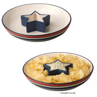 October Hill Patriotic Picnic Chip and Dip Set