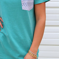 Aztec Pocket V-Neck