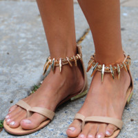 See What I See Sandals: Tan/Gold