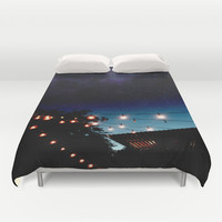 Summer Nights & Party Lights Duvet Cover by The Dreamery | Society6