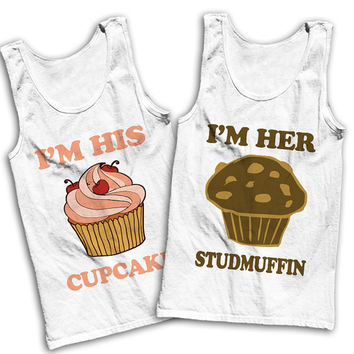 I'm His Cupcake, I'm Her Studmuffin Best Friends Tees