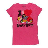 Angry Birds I Love Angry Birds Girls T-shirt