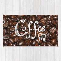 Coffee Love... Area & Throw Rug by Lisa Argyropoulos | Society6