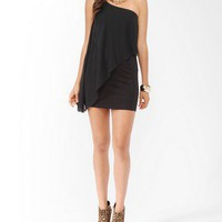 Chiffon Trim One Shoulder Dress | FOREVER21 - 2000039076