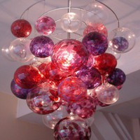 Berry Bubble Chandelier at RianRae | Apartment Therapy San Francisco