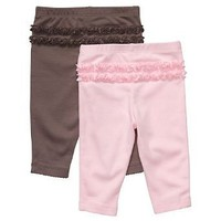 Carter`s 2 Pack Essential Ruffle Pants