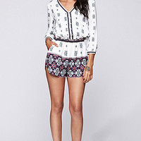 Kendall & Kylie Long Sleeve Romper at PacSun.com
