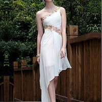 Buy discount In Stock Elegant A-line One Shoulder Simple Hi-lo Evening Dress Fashion 2012 at dressilyme.com