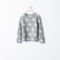 Rabbit pattern sweater