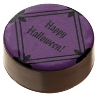 Halloween Dark Purple and Black Chocolate Covered Oreo