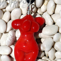 Elegant Red Glass Female Figure Item 17 by AJGlassWorks on Etsy