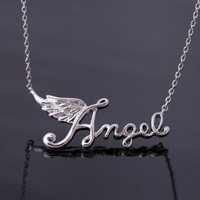 angel wing necklace in silver by bythecoco on Zibbet