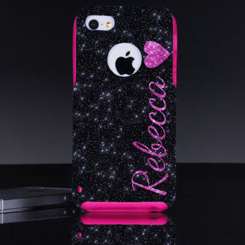 Otterbox iPhone 5c Case - Heart Personalized Name iPhone 5c Otterbox Commuter Case - iPhone 5c Otterbox Cover